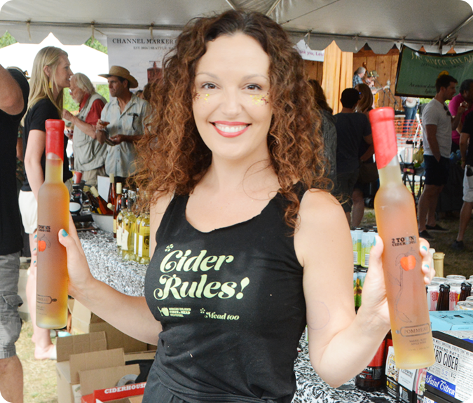 miramonee harrington volunteers at cider festival